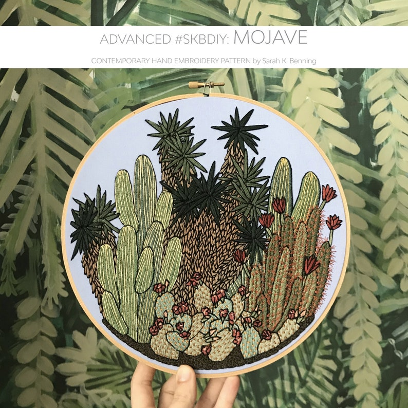 Advanced Contemporary Hand-Embroidery Pattern By Sarah K. image 0