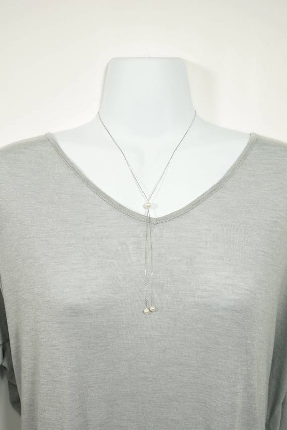 the Wendy lariat necklace