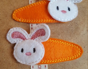 Hair Clips with Bunny Topper