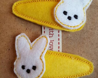 Yellow Clips with Bunny Topper