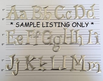 small silver metal letters numbers and punctuation 32 cents each made to order letters silver metal sign making letters metal letters