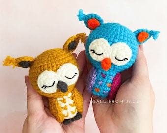 CROCHET PATTERN : Hector the Mini Owl (English/French)