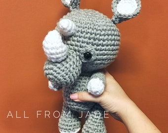 Plush amigurumi Rhino custom made for child