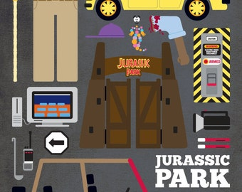 Jurassic Park - Movie Parts Poster
