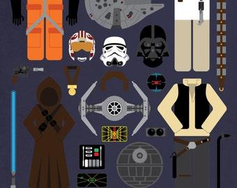 Star Wars: Episode IV • Movie Parts Poster