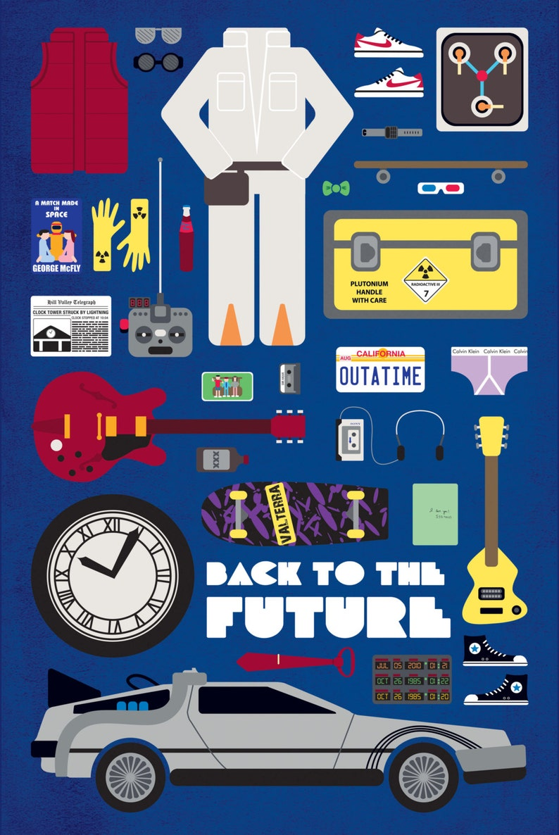 Back to the Future  Movie Parts Poster image 0