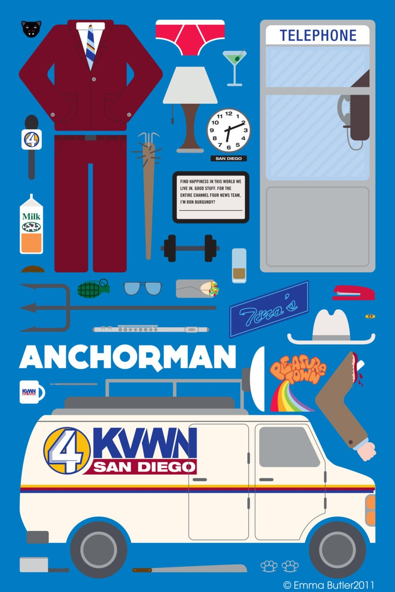 Anchorman  Movie Parts Poster image 0
