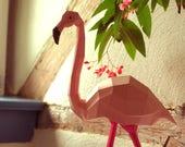 Flamingo Papercraft Kit