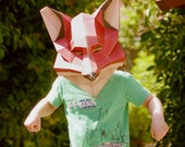 Fox mask, laser-cut papercraft kit, DIY project for stay-at-home times