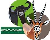 paper animals for children, laser-cut papercraft kit, DIY safari paper animals for children from 6yo
