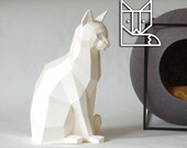 Sitting Cat Papercraft Kit by Paperwolf, perfect lockdown project