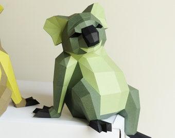 Koala Down-Under Paper sculpture DIY project