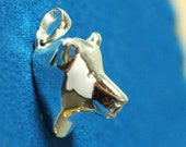 Bear Pendant 20mm, 925 pure Silver or gold-plated jewelry,