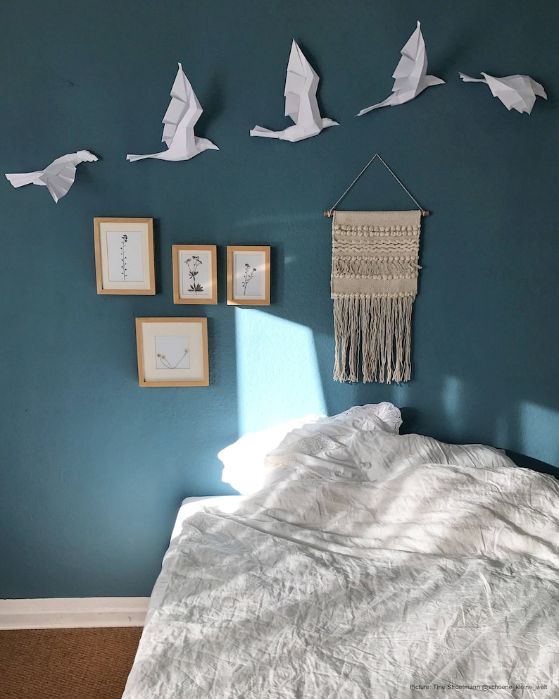 Flight of Birds Unicolor DIY set with 5 birds. Chose your image 0