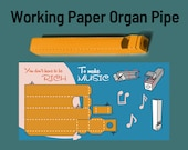 Postcards with a working organ pipe - paper whistle DIY kit - You dont have to be rich to make music