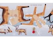 "Postcard ""Rudolph the Reindeer"" - Christmas Edition DIY template"