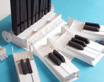 Papercraft kit for World's First Modular Paper Organ. Build your own DIY instrument, functional mini organ