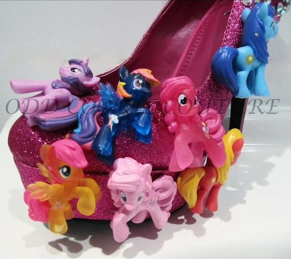 petit talons Mon paillettes strass poney forme et rose plate fZSdt4nwSx