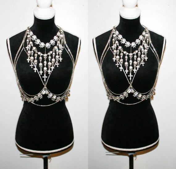 dd959d7f8 Luxury  Miranda  Diamante Burlesque Bra with