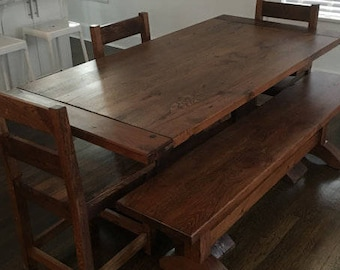 be918b65ef7c6 Kitchen Table w  Bench   Chairs