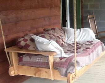 Veranda Schaukel, Daybed, Veranda Schaukel Bett, Individuelle  Outdoor Liege, Hängenden Bett, Indoor Schaukel, Personalisierte Holz Möbel,  Skaggs Creek Holz  ...