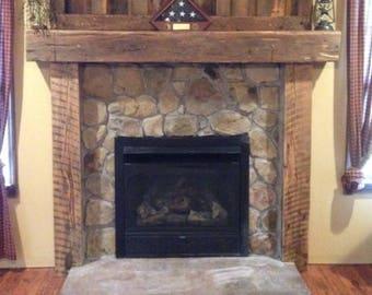 Fireplace Mantel Surround Kit Cabin Wood Mantle Shelf Barn Beam Rustic Reclaimed Skaggs Creek Shop