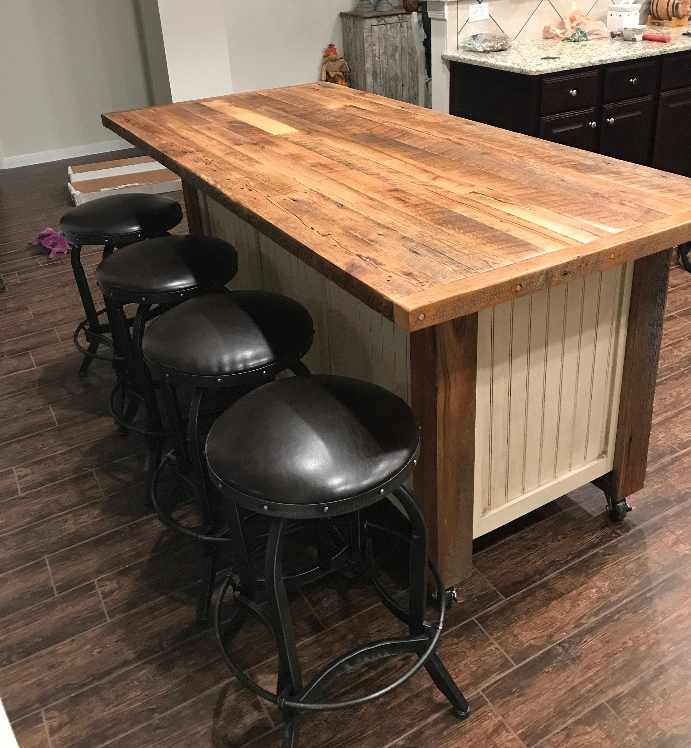 Kücheninsel mit Sitzgelegenheiten große Küche Insel mit