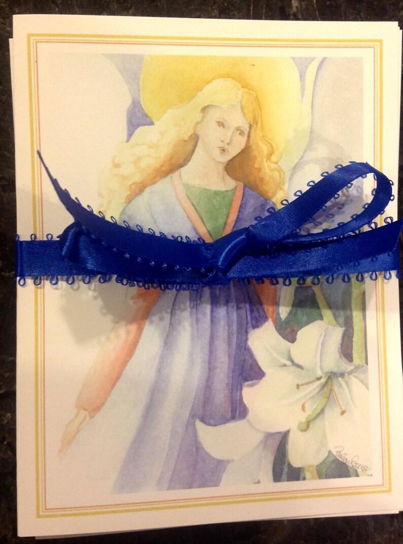 Angel card set of 4