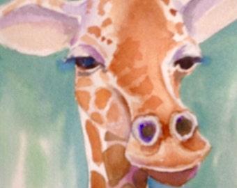 Giraffe card,from my original painting