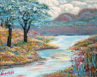 VALLEY STREAM  Fine Art Print from my Painting by Napolske Fine Art
