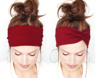 Burgundy Turban Women Turban Headband Burgundy Headwrap Burgundy Headband  Twist Headband Women Dark Red Turban Headband Women Headband Etsy 4c4a0c670f2