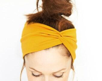 Yellow Turban Headband - Women Turban Headband Mustard Yellow Headwrap  Twist Headband Women Yellow Headband Turbans Headbands Women Headband c301304450a