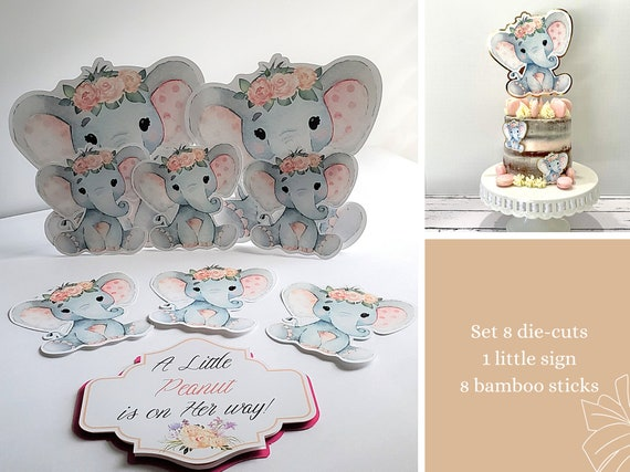 Elephant Baby Shower Decorations Watercolor Elephants 1st Birthday Die Cuts Peach And Pink By Cutesophia Catch My Party,Modern Victorian Era Furniture