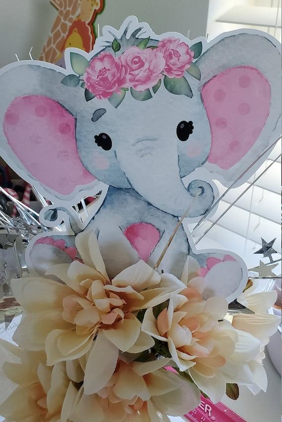 Elephant Baby Shower Girl Decorations Pink Elephant Elephant Etsy