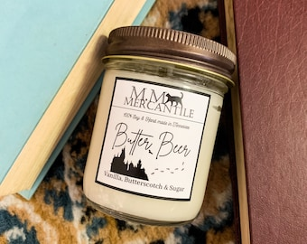 Butter Beer Harry Potter inspired 100% soy candle