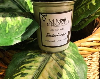 Shadowhunter Mortal Instruments inspired candle 100% soy