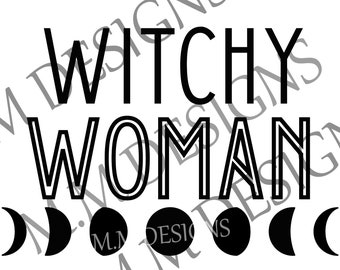 Witchy Woman PNG Downloadable file Sublimation