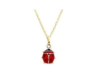 Ladybug Necklace / Ladybird Necklace / Ladybug Pendant