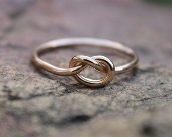 Gold Knot Ring, Gold Love Knot Ring, Bridesmaid Jewelry Set, Tie the Knot Ring, Promise Ring, Celtic knot