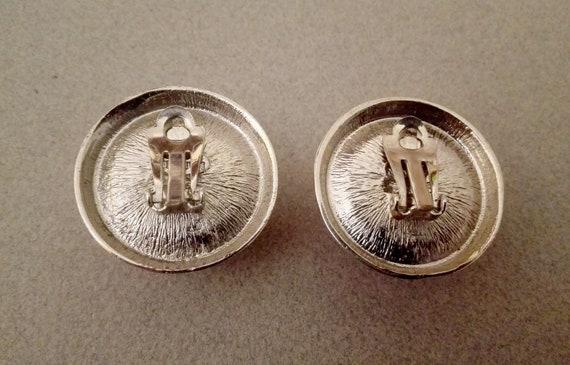 LANVIN ~ Authentic Vintage Large Round Silvered M… - image 6
