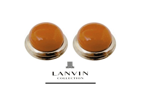 LANVIN ~ Authentic Vintage Large Round Silvered Me