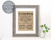 Wedding Remembrance, In Loving Memory Wedding Burlap Print, This Candle Burns in Memory Sign, Wedding Memory Table, Memorial Print