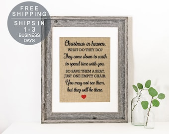 photo regarding My First Christmas in Heaven Poem Printable referred to as Vacant chair poem Etsy