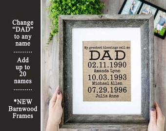 Personalized Father's Day Gift from Daughter Gift for Dad Long Distance Dad Gift Long Distance Father Daughter Gift Long Distance Map Gift