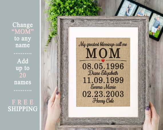 2019 Mothers Day Gift Box Mom Poem Mothers Day Personalized Gift from Son  Personalized Mothers Day Gift from Daughter Mother Daughter Gift