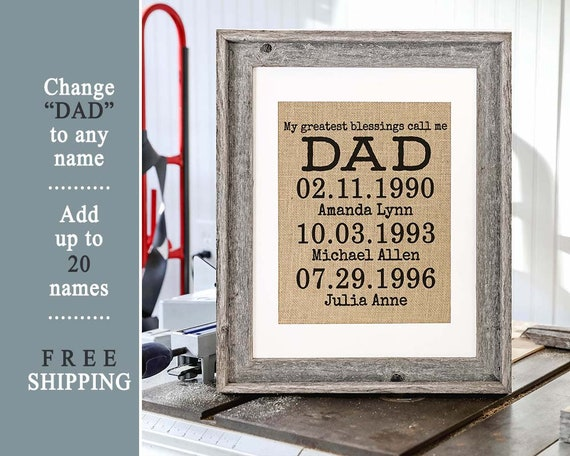 Personalized Birthday Gift From Daughter For Dad Son