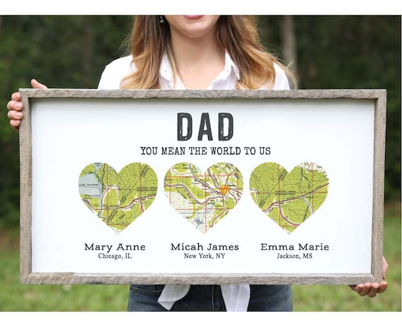 personalized christmas gifts for him gift for dad from etsy personalized christmas gifts for him gift for dad from daughter wood heart map by knn long distance father daughter gift dad family gift