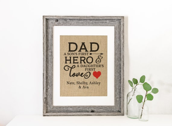 Dad Christmas Gift Dad a Son\'s Fist Hero A Daughters | Etsy