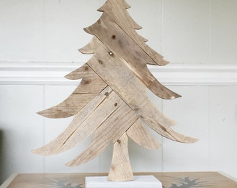 wooden christmas tree rustic holiday decorations - Wooden Christmas Decorations