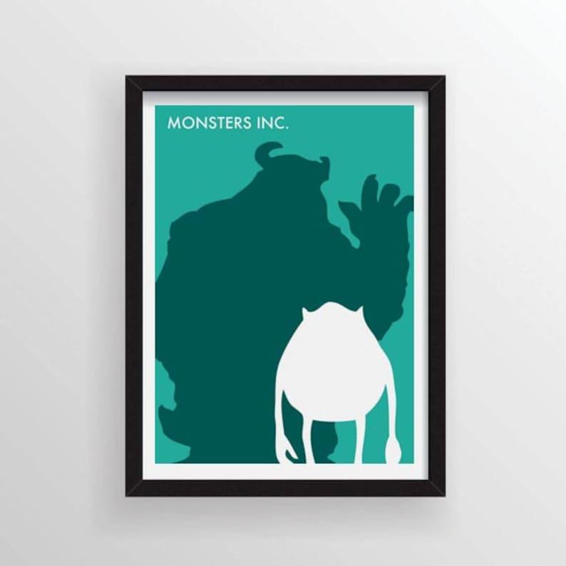 8 5 X 11 Monsters Inc Minimalist Poster
